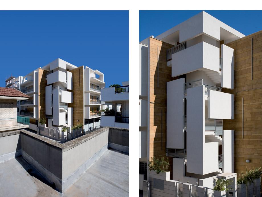 Edificio residenziale rocco mele architetto for Architettura residenziale contemporanea